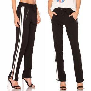 Pam & Gela Split Leg Jogger Track Pants Black L